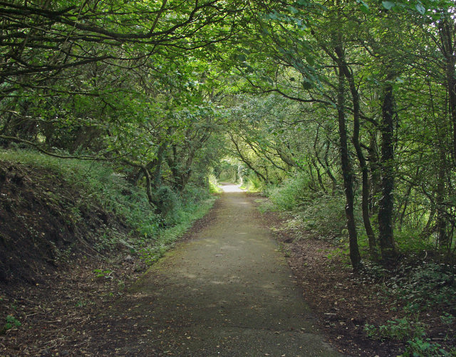 Path at Bedford Park/Parc Bedford, Cefn Cribwr