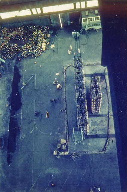 Cardington Airship Hangar No. 2 - Interior photo of E end in 1970