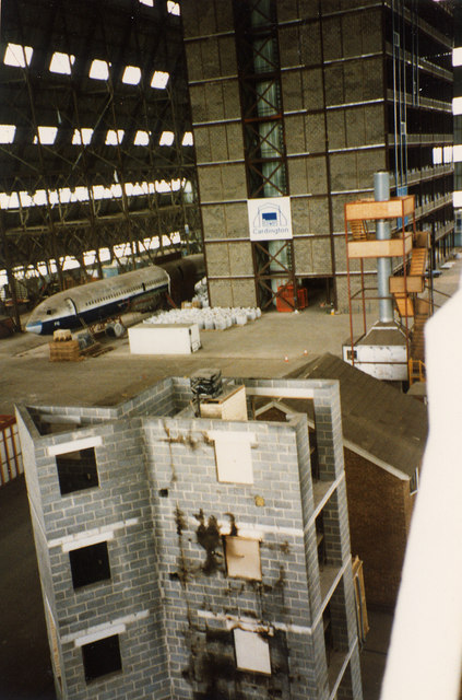 Airship Hangar No. 2 - interior to east end in 1994
