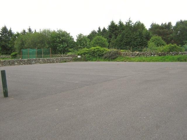 The car park at Colvend Golf Club