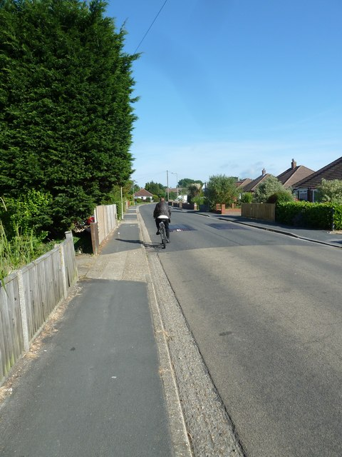 Cyclist in Fareham Park Avenue