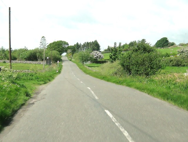 A710 approaching the turning to Portling