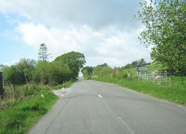 A710 and the turning to Portling