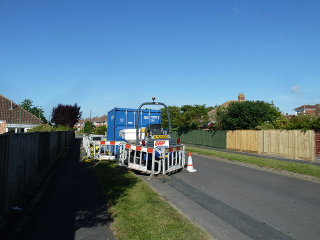 Road works in Atkins Place