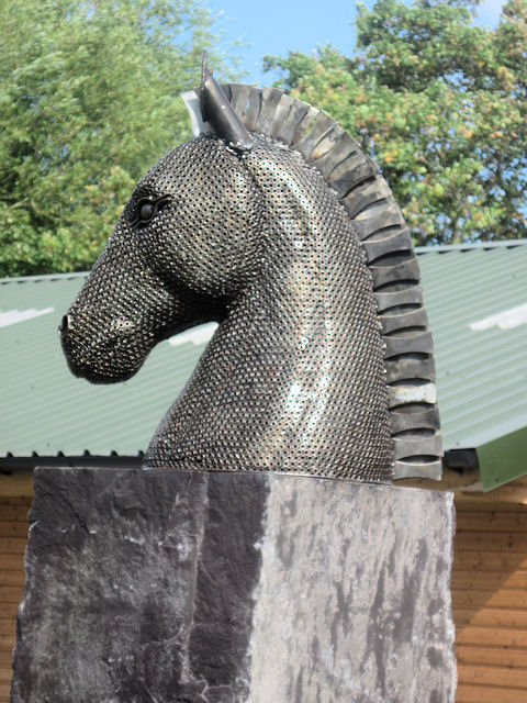 Chess piece at the Riding Stables?