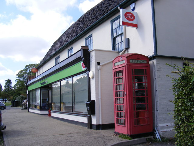 Laxfield Post Office, Telephone & Postbox