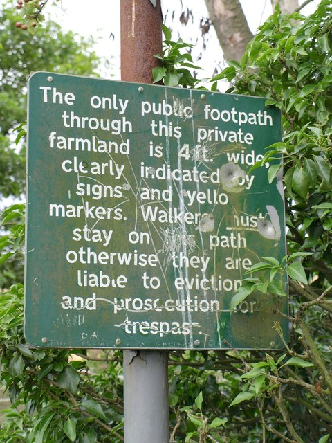 Notice on Leeds Country Way