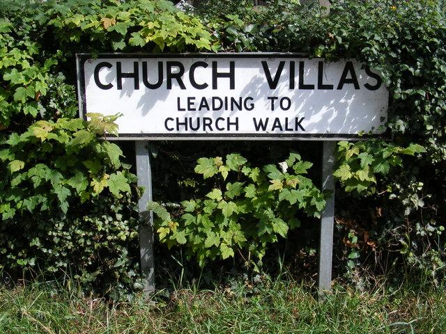 Church Villas sign