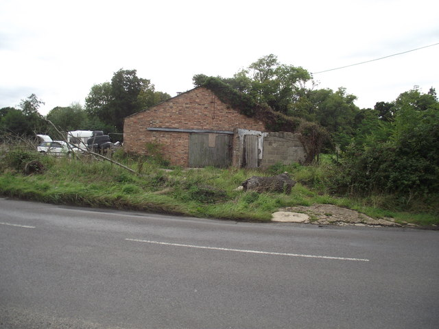 Derelict farm building on the Organford Road