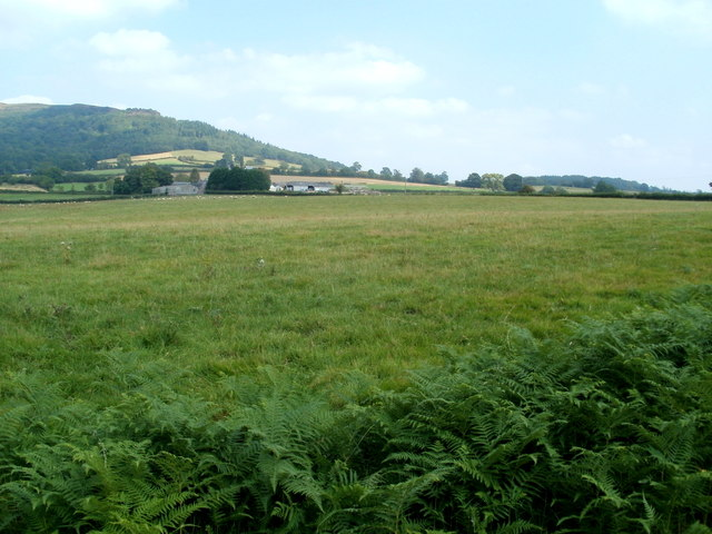 A distant view of New Court Farm NE of Llantilio Pertholey