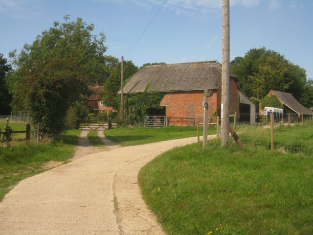 Approach to Worting Wood Farm