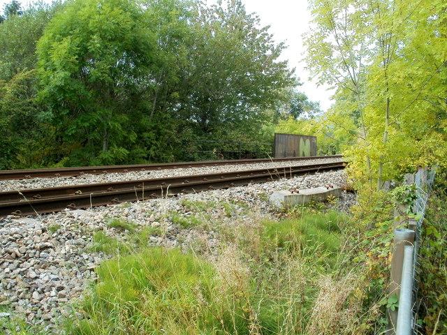 Welsh Marches railway lines heading north near Llantilio Pertholey