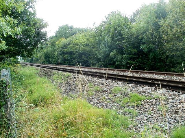 Welsh Marches railway lines heading south near Llantilio Pertholey