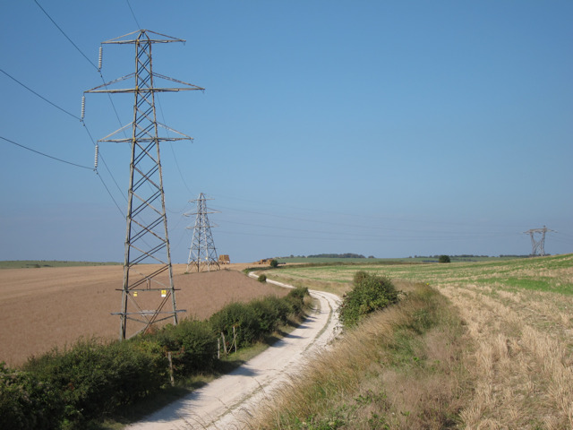 Pylons by the Sussex Border Path