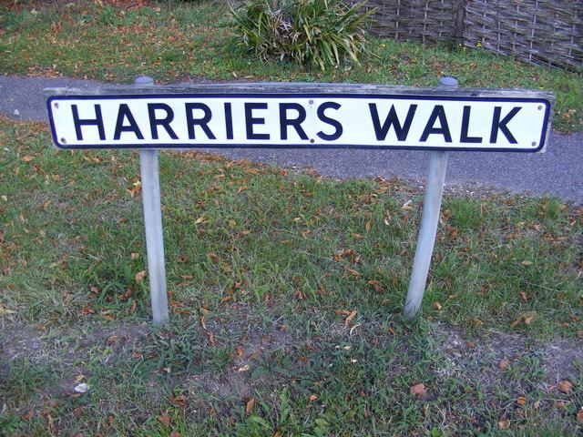 Harriers Walk sign
