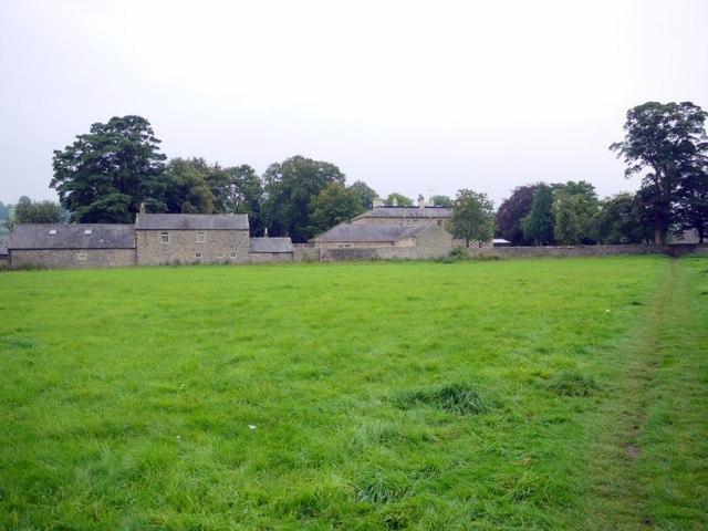Footpath to church, Wolsingham