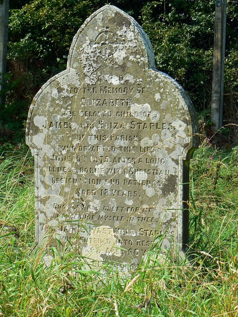 Gravestone of the Staples family, St Giles' Church, Imber