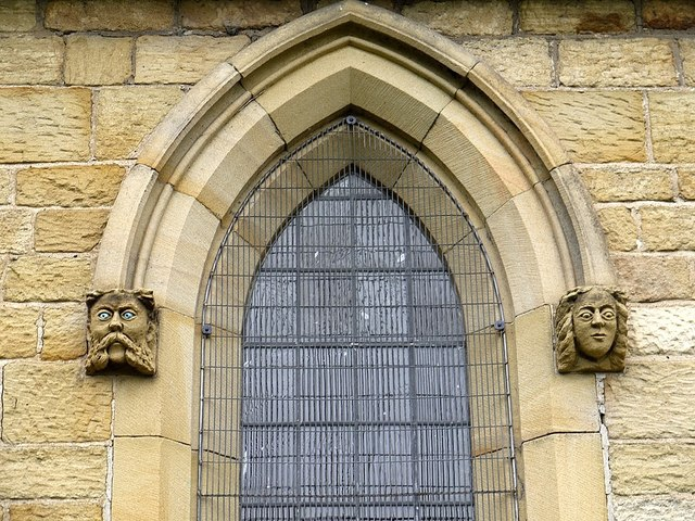 Carved heads, Wolsingham Parish Church