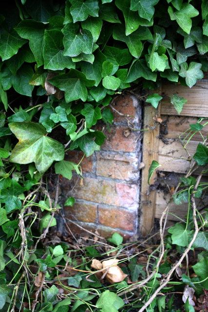Benchmark on wall outside Ash Barn House, High Street