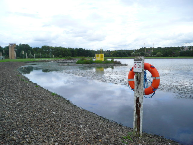 Looking across the start-line at Strathclyde Loch