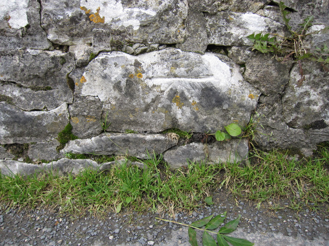 Bench mark on Stainforth packhorse bridge