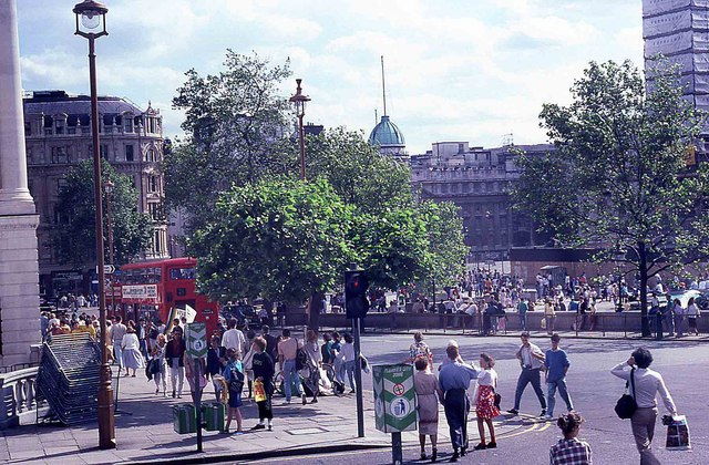 Tourists in Trafalgar Square (6)