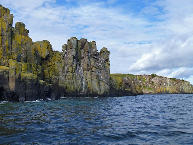 Basalt cliffs on the Sound of Raasay