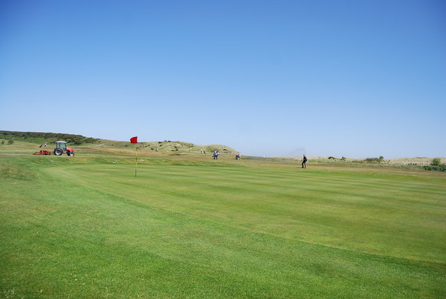 Green, Dunstanburgh Castle Golf Course