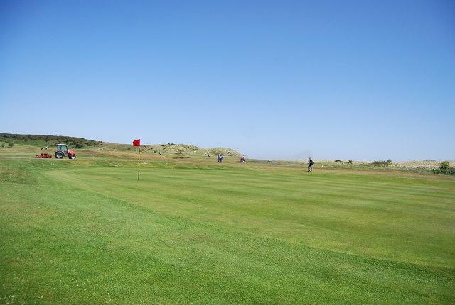 Green, Dunstanburgh Castle Golf Course