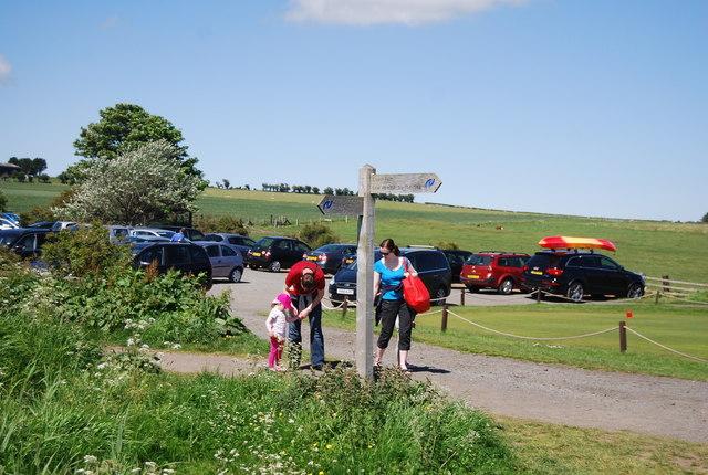 Northumberland Coast Path fingerpost