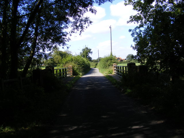 Bridge on the road the Letheringham