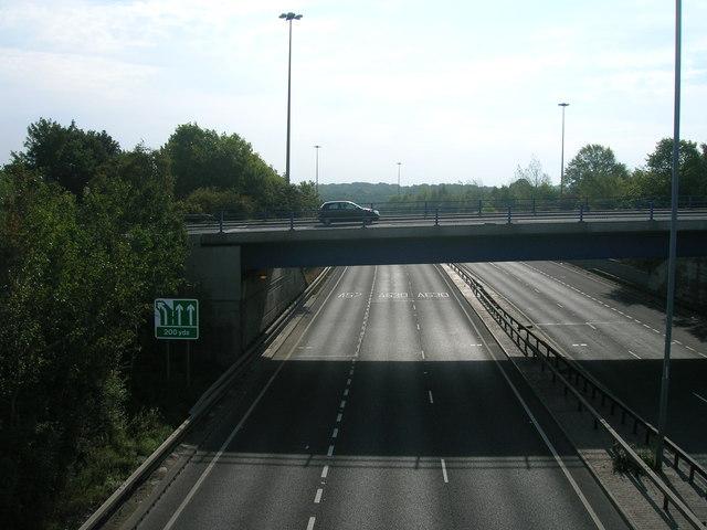 A57 eastbound