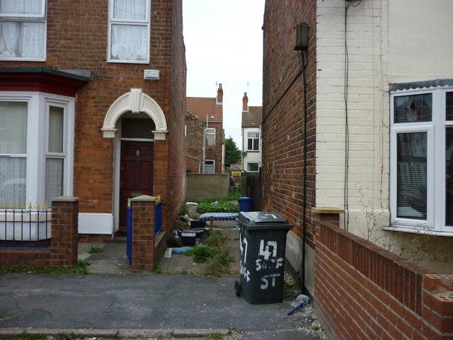 A passageway off Suffolk Street, Hull