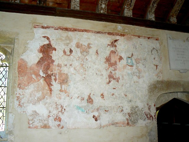 Wall painting (1) St Giles' Church, Imber