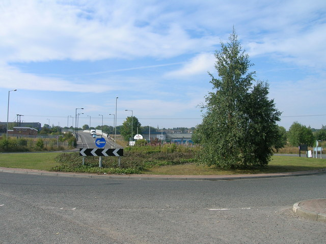Roundabout on the B6066