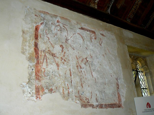 Wall painting (2) St Giles' Church, Imber