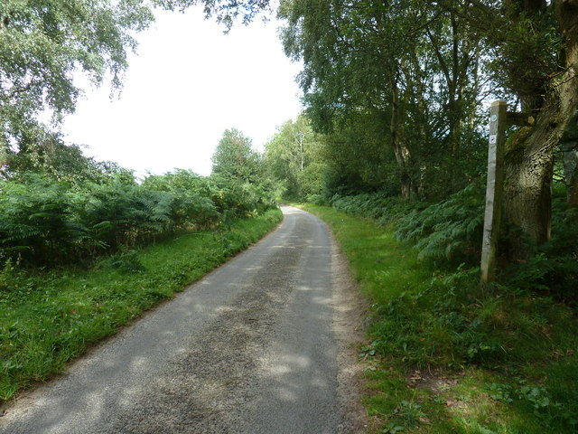 Footpath sign on Woolbeding Lane
