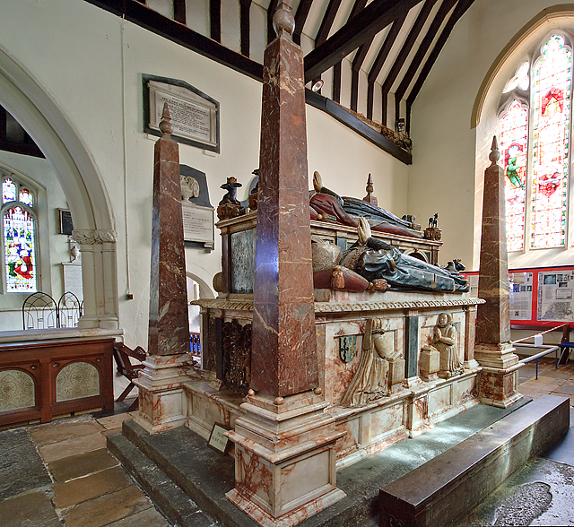Wriothesley monument  -  St Peter's church, Titchfield