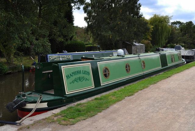 Narrow boat moored