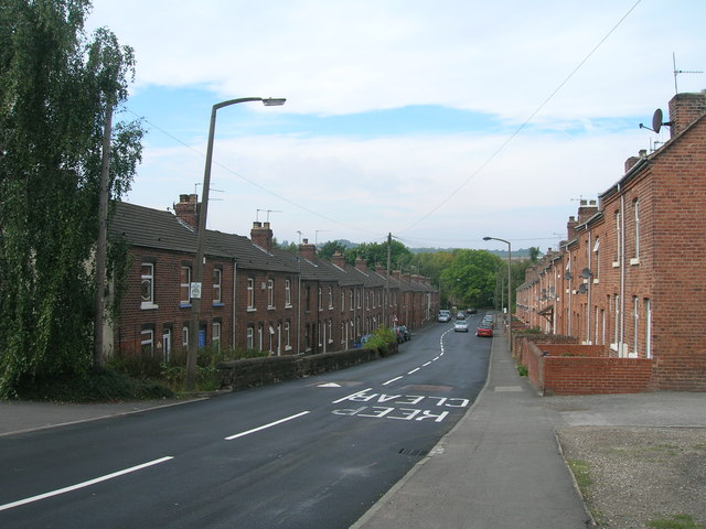 Mill Lane towards Catcliffe