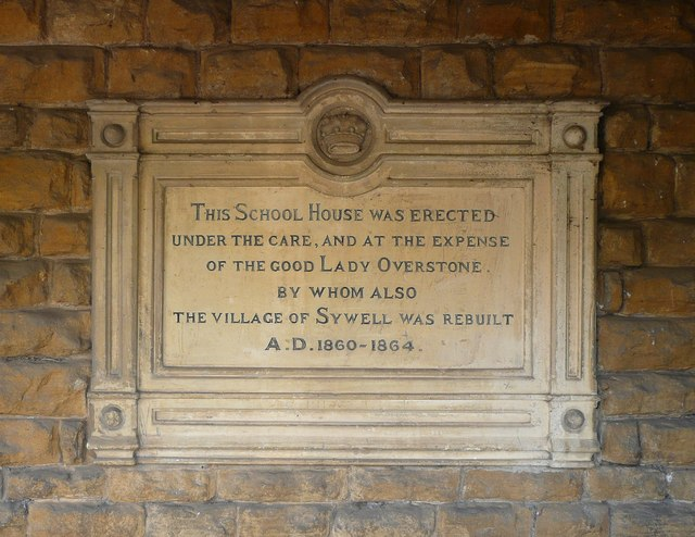 Plaque on Sywell village hall