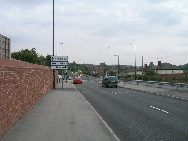 A631 towards Maltby