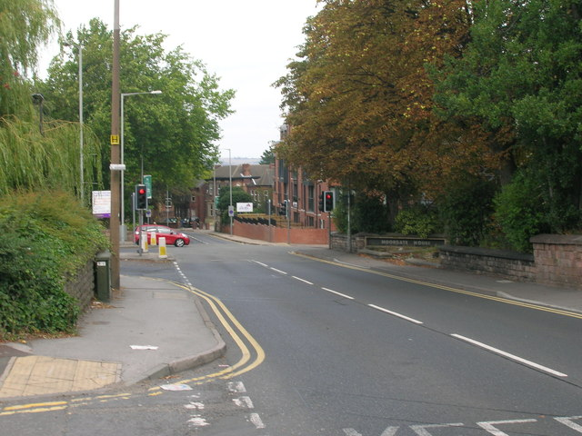 Moor Road heading north