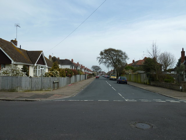 Looking from Nutbourne Road into Woodmancote Road