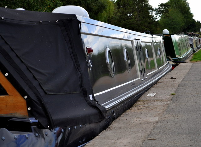 Narrow boats moored