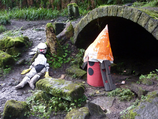 Moon landing - sculpture in Colden Clough