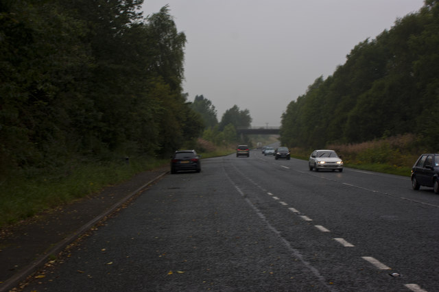 The A591 near Staveley on a rainy Friday morning