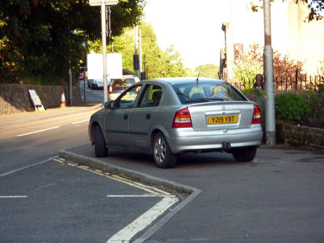 Pavement parking on King Street, Hebden Bridge