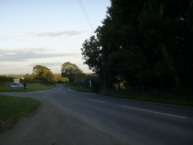 Road junction near Keeston