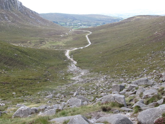 The Trassey Track from the rockfall.